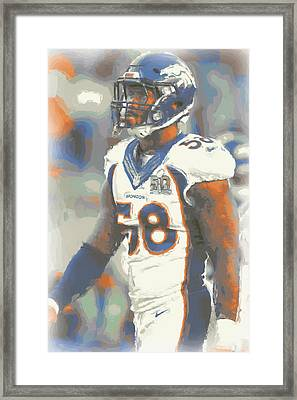 Denver Broncos Von Miller 4 Framed Print by Joe Hamilton