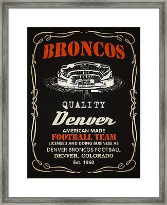 Denver Broncos Whiskey 2 Framed Print by Joe Hamilton