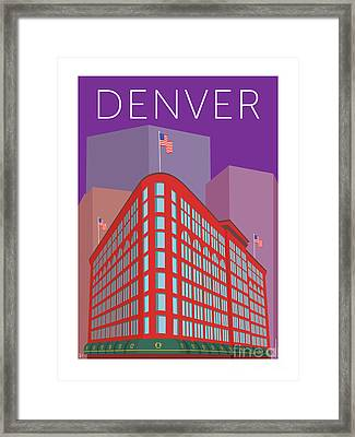Denver Brown Palace/purple Framed Print