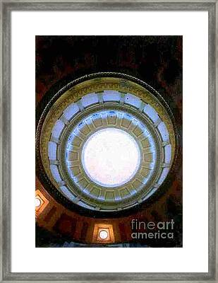 Framed Print featuring the photograph Denver Capital Building Rotunda by Michael Hoard
