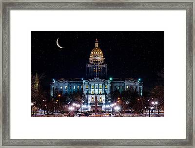 Denver Capital Nights Framed Print by Darren White