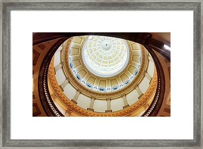 Framed Print featuring the photograph Denver Capitol Dome 1 by Marilyn Hunt