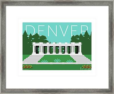 Denver Cheesman Park/lt Blue Framed Print