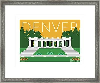 Denver Cheesman Park/gold Framed Print