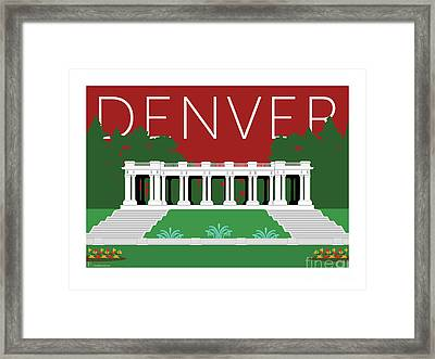 Denver Cheesman Park/maroon Framed Print