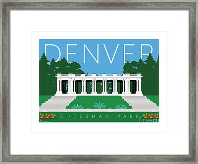 Denver Cheesman Park Framed Print