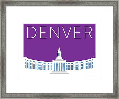 Denver City And County Bldg/purple Framed Print