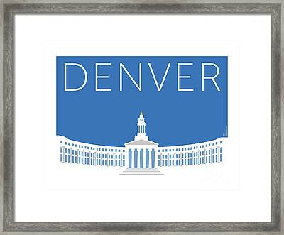 Denver City And County Bldg/blue Framed Print