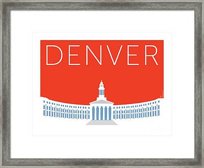 Denver City And County Bldg/orange Framed Print