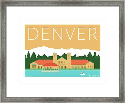 Denver City Park/adobe Framed Print