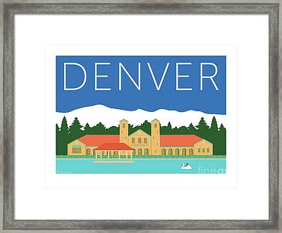 Denver City Park/blue Framed Print