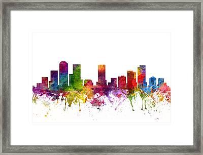 Denver Cityscape 06 Framed Print
