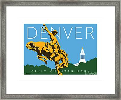 Denver Civic Center Park Framed Print