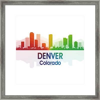 Denver Co 1 Squared Framed Print