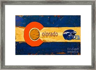 Denver Colorado Broncos 1 Framed Print
