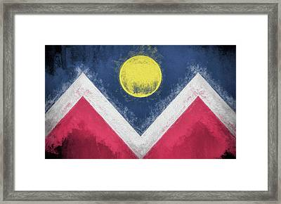 Framed Print featuring the digital art Denver Colorado City Flag by JC Findley