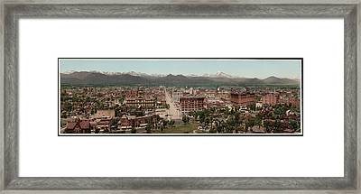 Denver, Colorado, Photochrom By William Framed Print by Everett