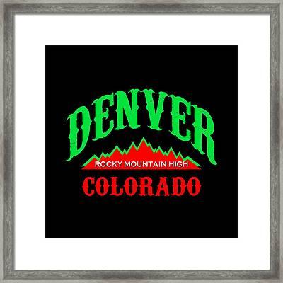 Denver Colorado Rocky Mountain Design Framed Print