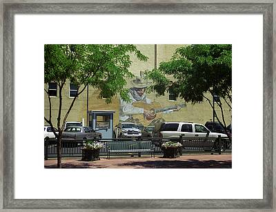 Framed Print featuring the photograph Denver Cowboy Parking by Frank Romeo
