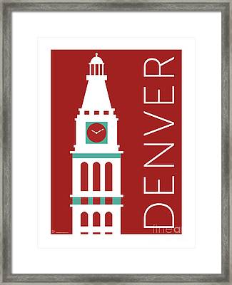 Denver D And F Tower/maroon Framed Print