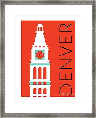 Denver D And F Tower/orange Framed Print