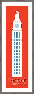 Denver D And F Tower/tall Framed Print