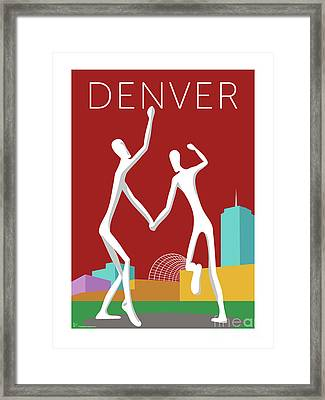 Denver Dancers/maroon Framed Print