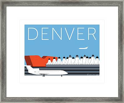 Denver Dia/blue Framed Print