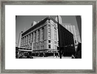 Denver Downtown Bw Framed Print by Frank Romeo