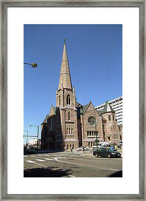 Framed Print featuring the photograph Denver Downtown Church by Frank Romeo