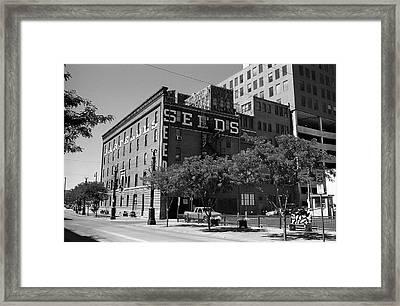 Denver Downtown Warehouse Bw Framed Print by Frank Romeo