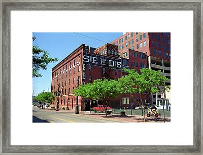 Framed Print featuring the photograph Denver Downtown Warehouse by Frank Romeo