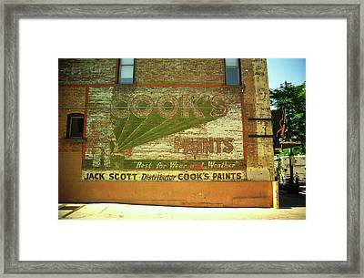 Framed Print featuring the photograph Denver Ghost Mural by Frank Romeo