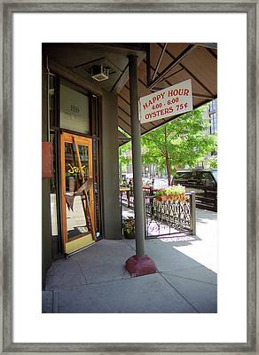 Framed Print featuring the photograph Denver Happy Hour by Frank Romeo