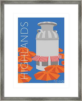 Denver Highlands/blue Framed Print