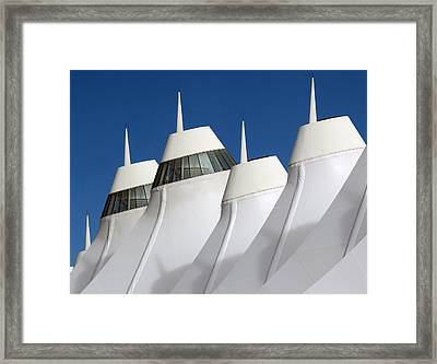Denver International Airport Dia Colorado Framed Print by Brendan Reals