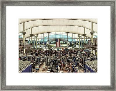 Denver International Airport Tsa Checkpoint Framed Print