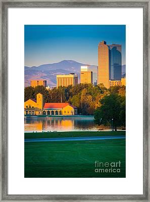 Denver Morning Framed Print by Inge Johnsson