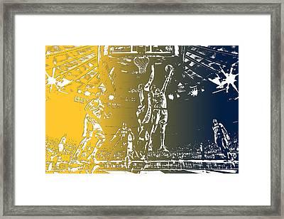 Denver Nuggets Team Pixel Art 1 Framed Print