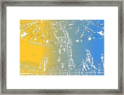 Denver Nuggets Team Pixel Art 2 Framed Print