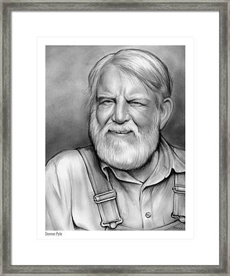 Denver Pyle Framed Print by Greg Joens
