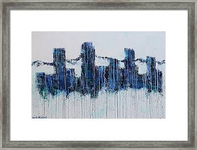 Denver Rain Framed Print