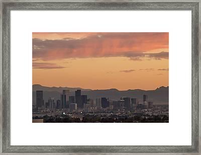 Denver Skyline Framed Print by Becca Buecher