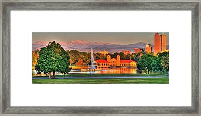 Denver Skyline Framed Print by Scott Mahon