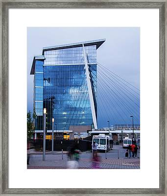 Denver Union Station And Milennium Bridge Framed Print