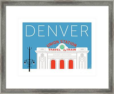 Denver Union Station/blue Framed Print