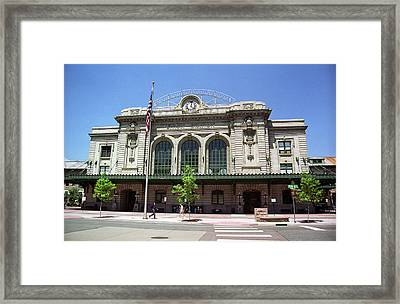 Framed Print featuring the photograph Denver - Union Station Film by Frank Romeo