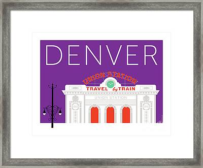 Denver Union Station/purple Framed Print