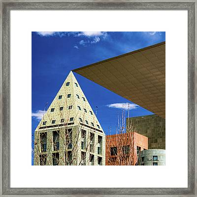 Denver Urban Geometry Framed Print