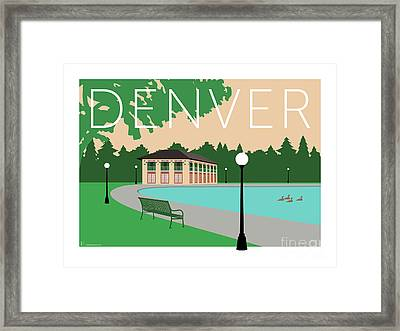 Denver Washington Park/beige Framed Print